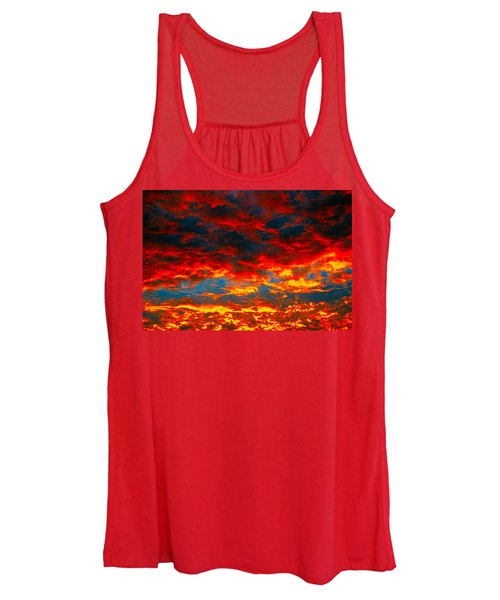 Red Clouds Women's Tank Top
