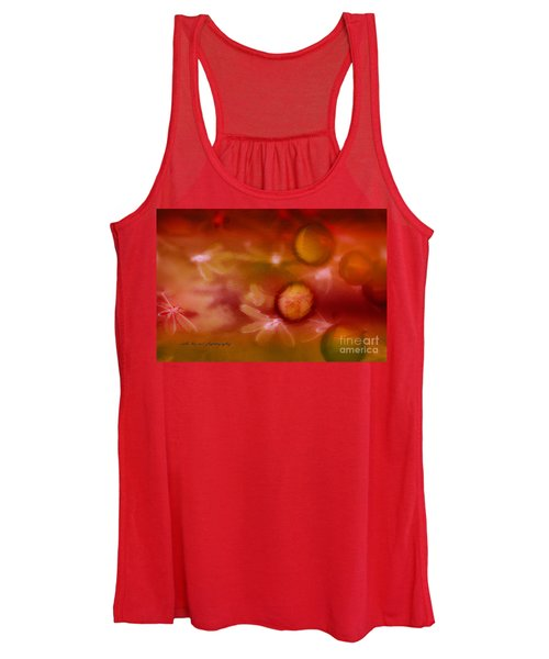 Red Pearl Dragon Fly Women's Tank Top