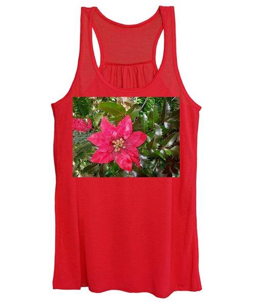 Christmas Poinsettia Women's Tank Top