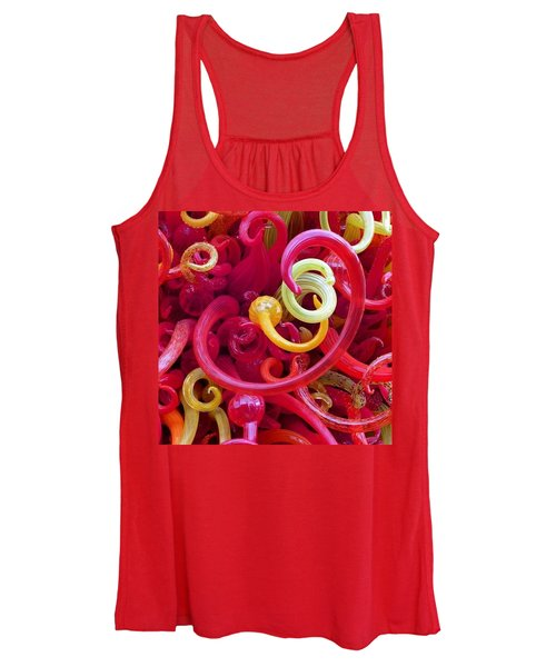 Close-up Of Art Glass By Dale Chihuly Women's Tank Top