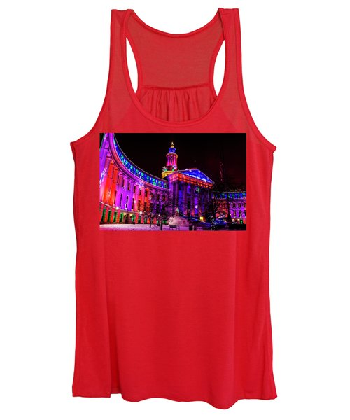 Denver City And County Building Holiday Lights Women's Tank Top