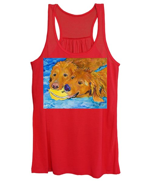 Women's Tank Top featuring the painting Double Your Pleasure by Pat Saunders-White