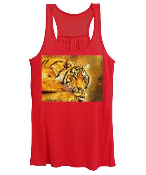 Eye Of The Tiger Women's Tank Top