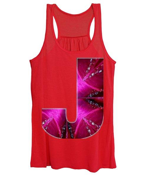 J Jj Jjj  Alpha Art On Shirts Alphabets Initials   Shirts Jersey T-shirts V-neck Sports Tank Tops  B Women's Tank Top