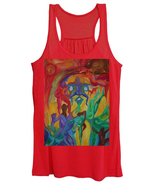 Mann I The Middle Women's Tank Top
