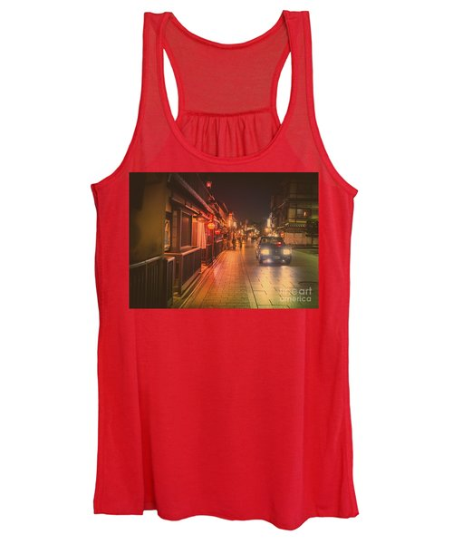 Old Kyoto, Gion Japan Women's Tank Top