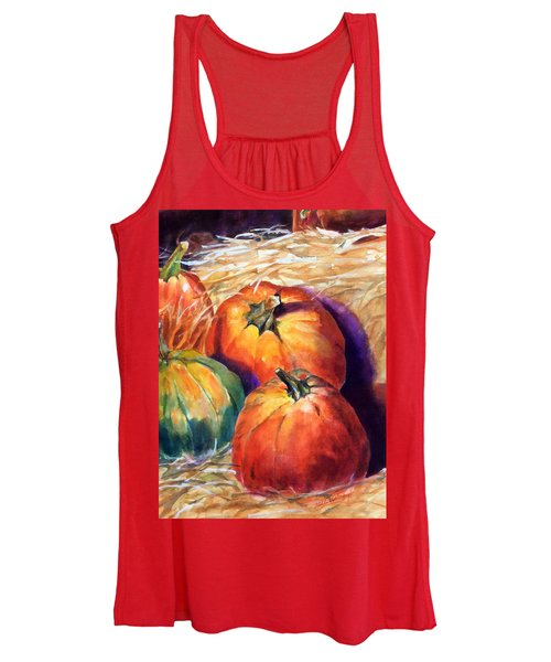 Pumpkins In Barn Women's Tank Top
