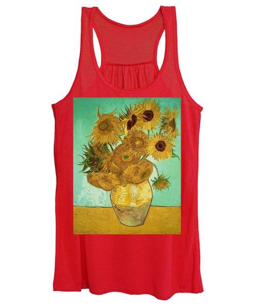 Sunflowers By Van Gogh Women's Tank Top