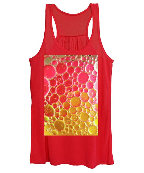 Water And Oil Bubbles Women's Tank Top