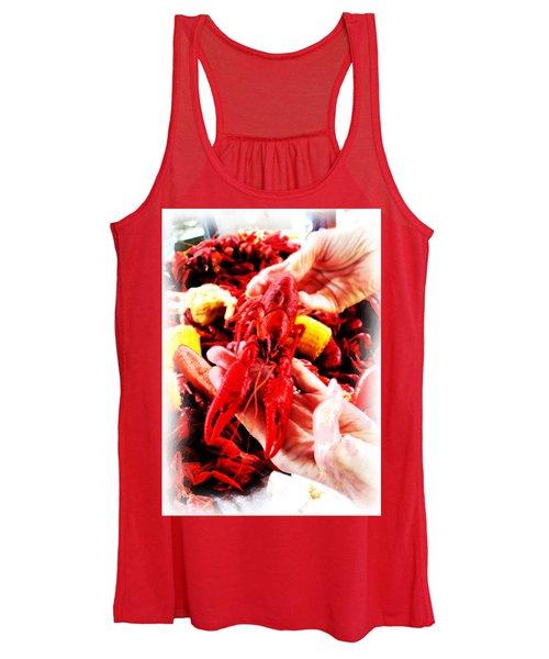 102715 Louisiana Lobster Women's Tank Top
