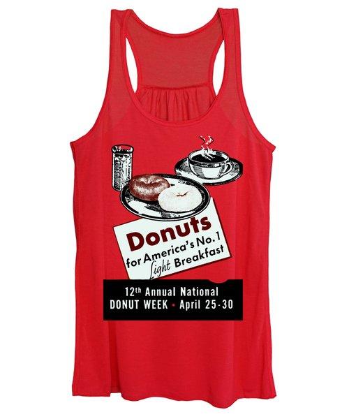 1940 Donut Poster Women's Tank Top