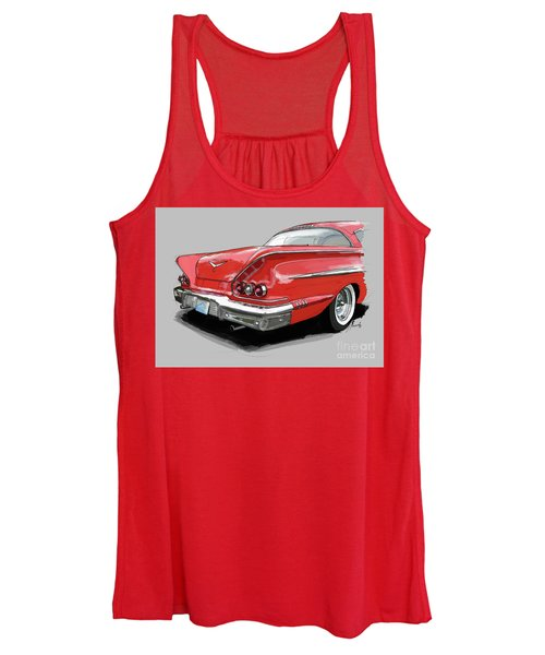 1958 Chevy Impala Sport Coupe 348, Gift For Husband Women's Tank Top