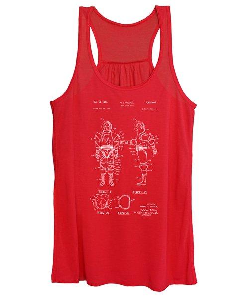 1968 Hard Space Suit Patent Artwork - Red Women's Tank Top