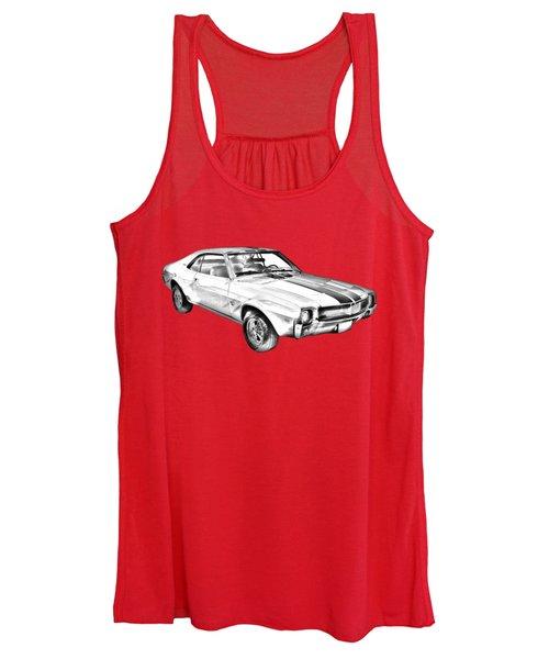 1969 Amc Javlin Car Illustration Women's Tank Top