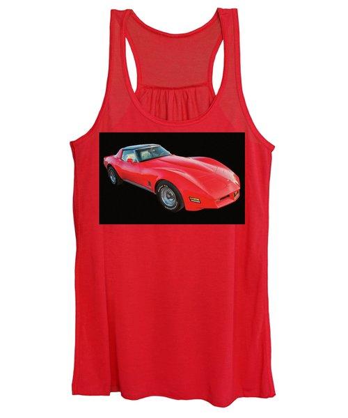 1977 Chevy Corvette T Tops Digital Oil Women's Tank Top