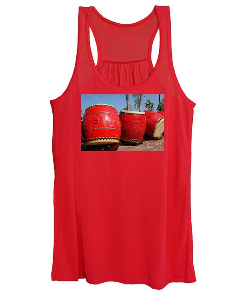 Large Chinese Drums Women's Tank Top