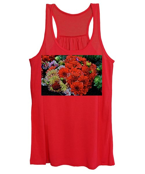 2017 Mid October Monona Farmers' Market Buckets Of Blossoms 1 Women's Tank Top