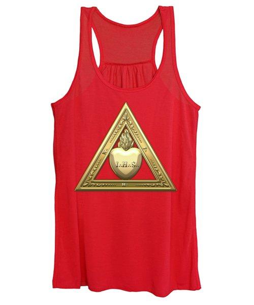 26th Degree Mason - Prince Of Mercy Or Scottish Trinitarian Masonic Jewel  Women's Tank Top