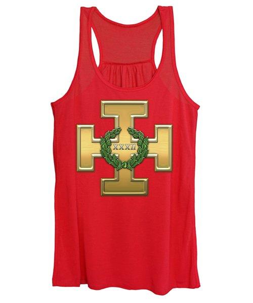 32nd Degree Mason - Master Of The Royal Secret Masonic Jewel  Women's Tank Top