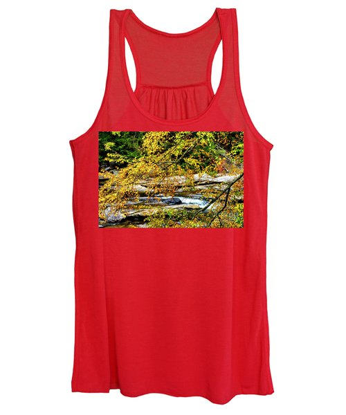 Autumn Middle Fork River Women's Tank Top
