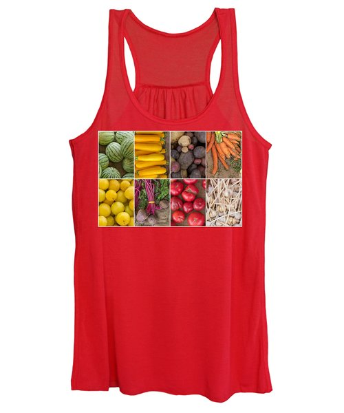 Fruit And Vegetable Collage Women's Tank Top