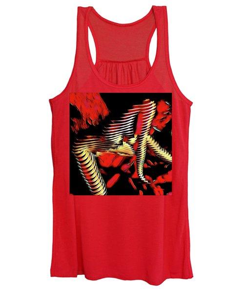 5787s-mak Nude Woman Art Rendered In Red Palette Knife Style Women's Tank Top