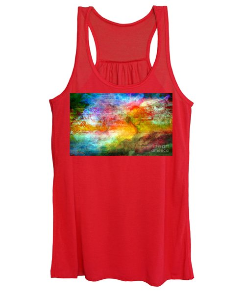 5a Abstract Expressionism Digital Painting Women's Tank Top
