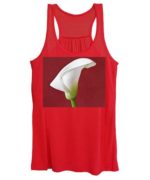 White Calla Women's Tank Top