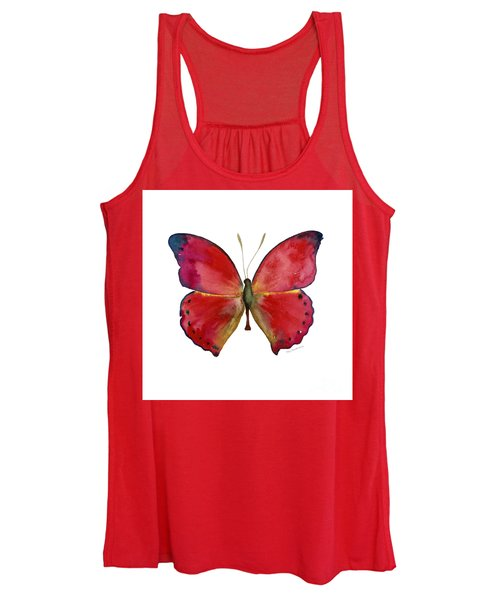 83 Red Glider Butterfly Women's Tank Top