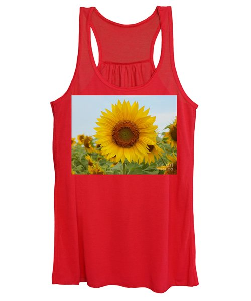 #933 D963 You Are My Sunshine Colby Farm Sunflowers Women's Tank Top