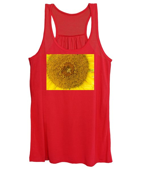 #933 D971 Overworked Colby Farm Sunflowers Women's Tank Top