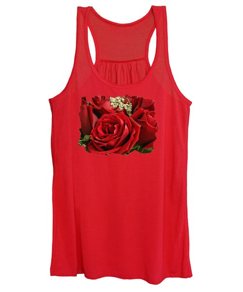 A Bouquet Of Red Roses Women's Tank Top