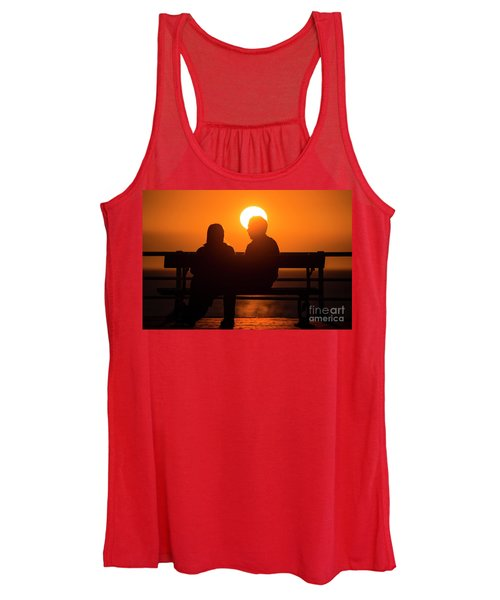 A Couple Sitting At Sunset Women's Tank Top