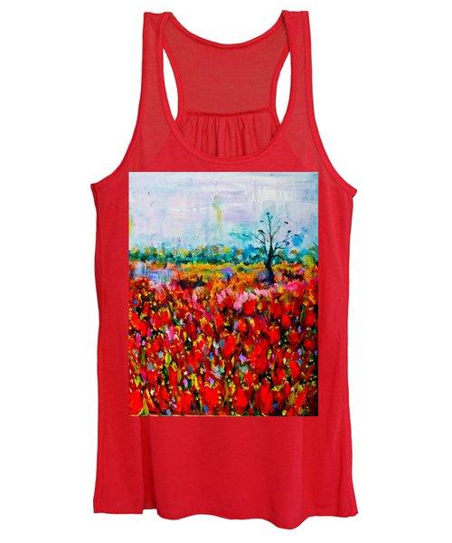 A Field Of Flowers # 2 Women's Tank Top