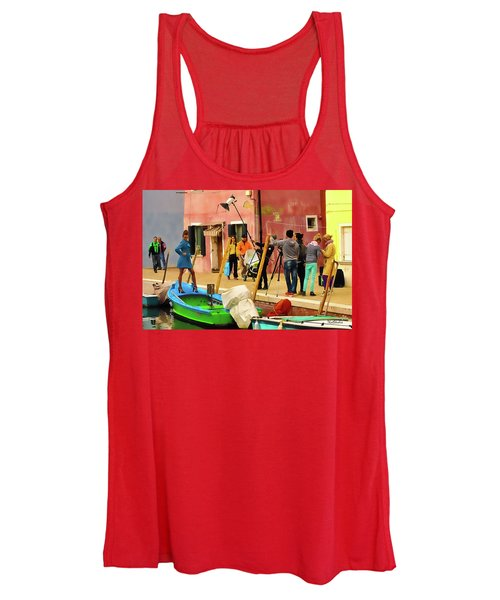 A Glamour Shoot In Burano Women's Tank Top