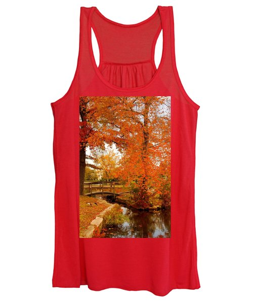 A Morning In Autumn - Lake Carasaljo Women's Tank Top