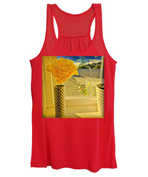 A Rose Is A Rose Electric Women's Tank Top