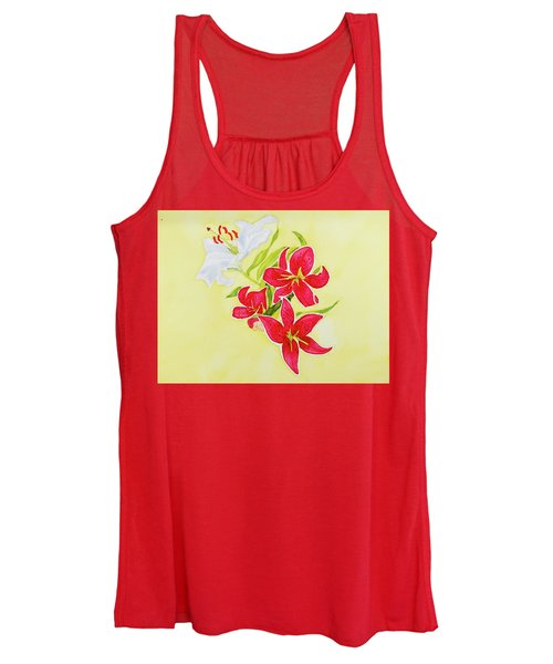 A Study Of Lilies Women's Tank Top