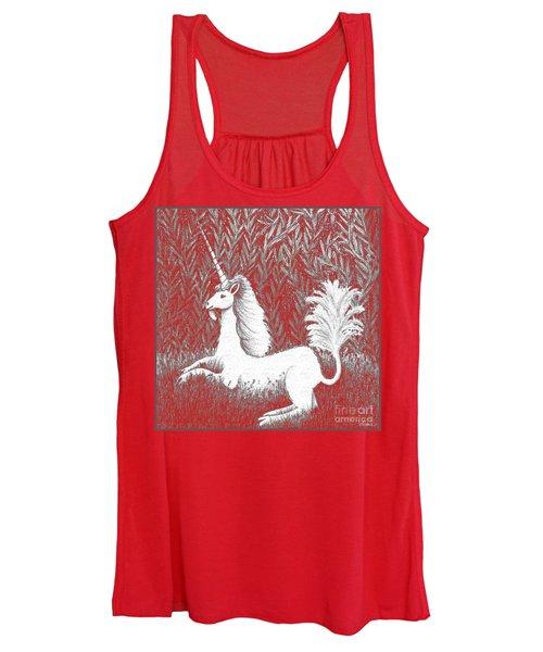 A Unicorn In Moonlight Tapestry Women's Tank Top