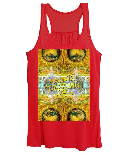Absolutely Dazzling Hall Of Mirrors Versailles Palace Paris Women's Tank Top