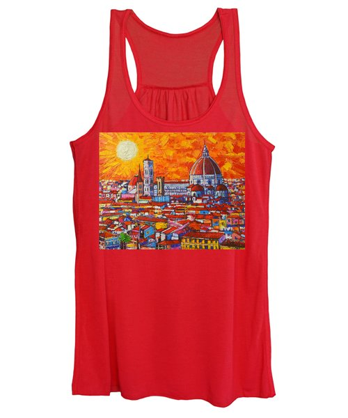Abstract Sunset Over Duomo In Florence Italy Women's Tank Top