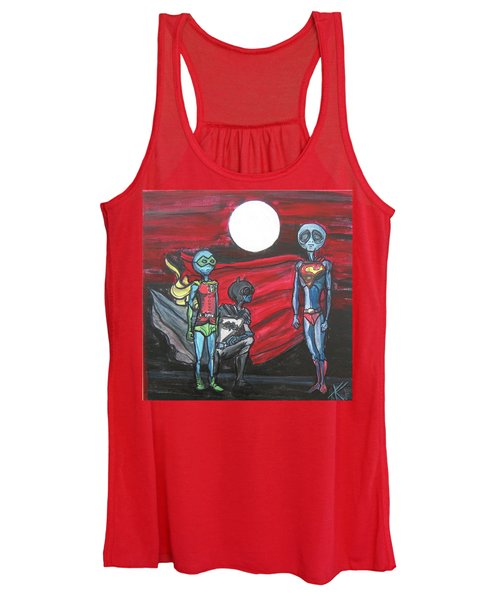 Alien Superheros Women's Tank Top