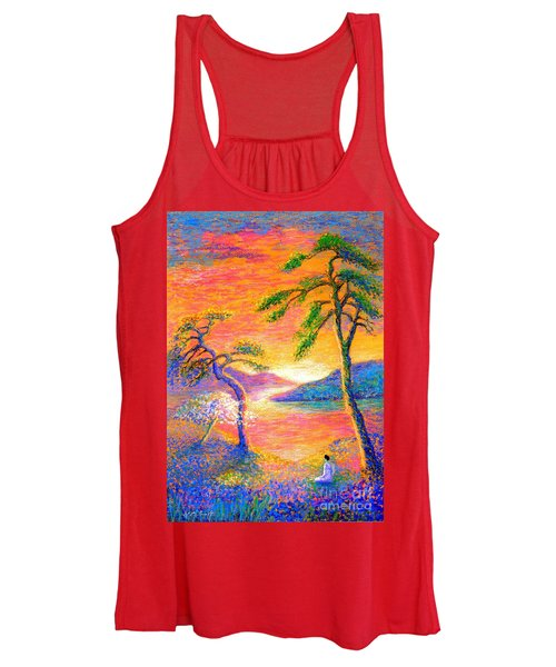 Buddha Meditation, All Things Bright And Beautiful Women's Tank Top