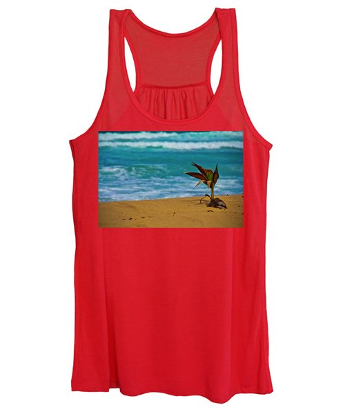 Alone On The Beach Women's Tank Top