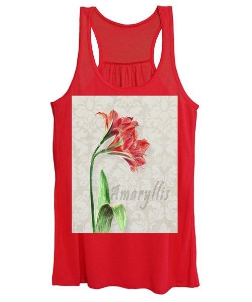 Amaryllis On The Ornament Women's Tank Top