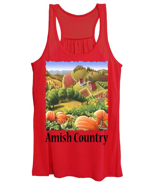 Amish Country - Pumpkin Patch Country Farm Landscape Women's Tank Top
