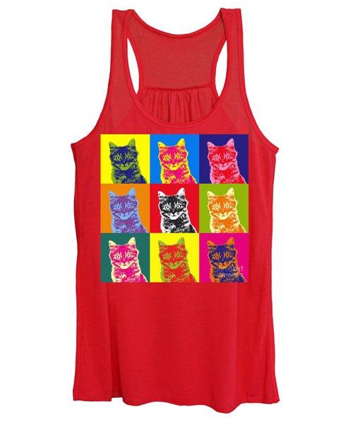 Andy Warhol Cat Women's Tank Top
