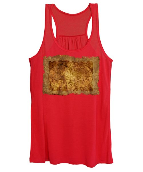 Antique Map Of The World Women's Tank Top