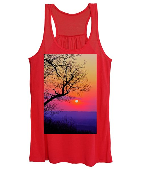 Appalcahian Sunset Tree Silhouette #2 Women's Tank Top