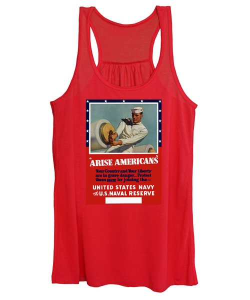 Arise Americans Join The Navy  Women's Tank Top
